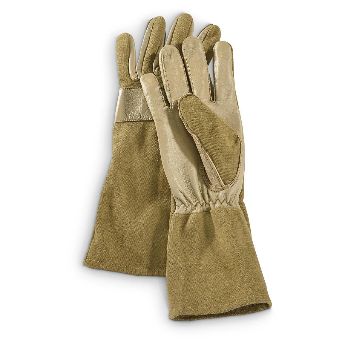 Miltec Military Style Pilot Gloves, Nomex Fire Resistant, Coyote