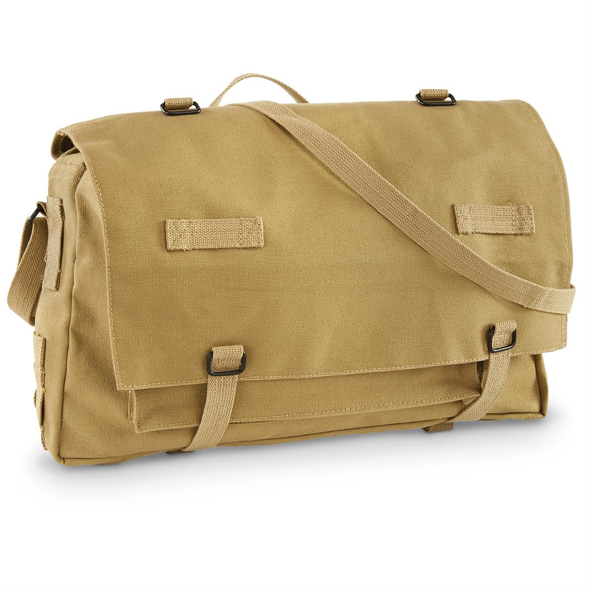 German Military-style Jumbo Rations Bag, Khaki