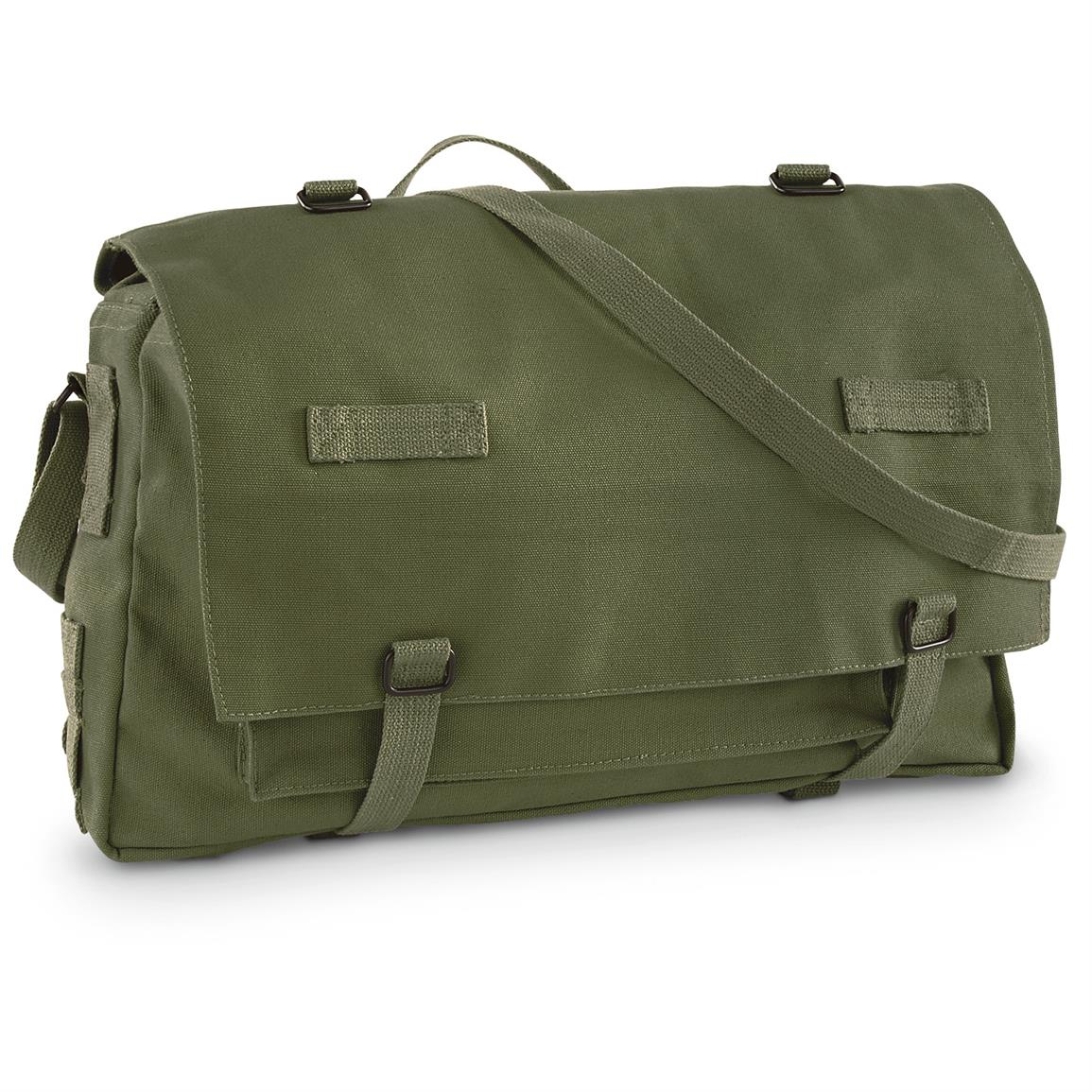 German Military-style Jumbo Rations Bag, Olive Drab