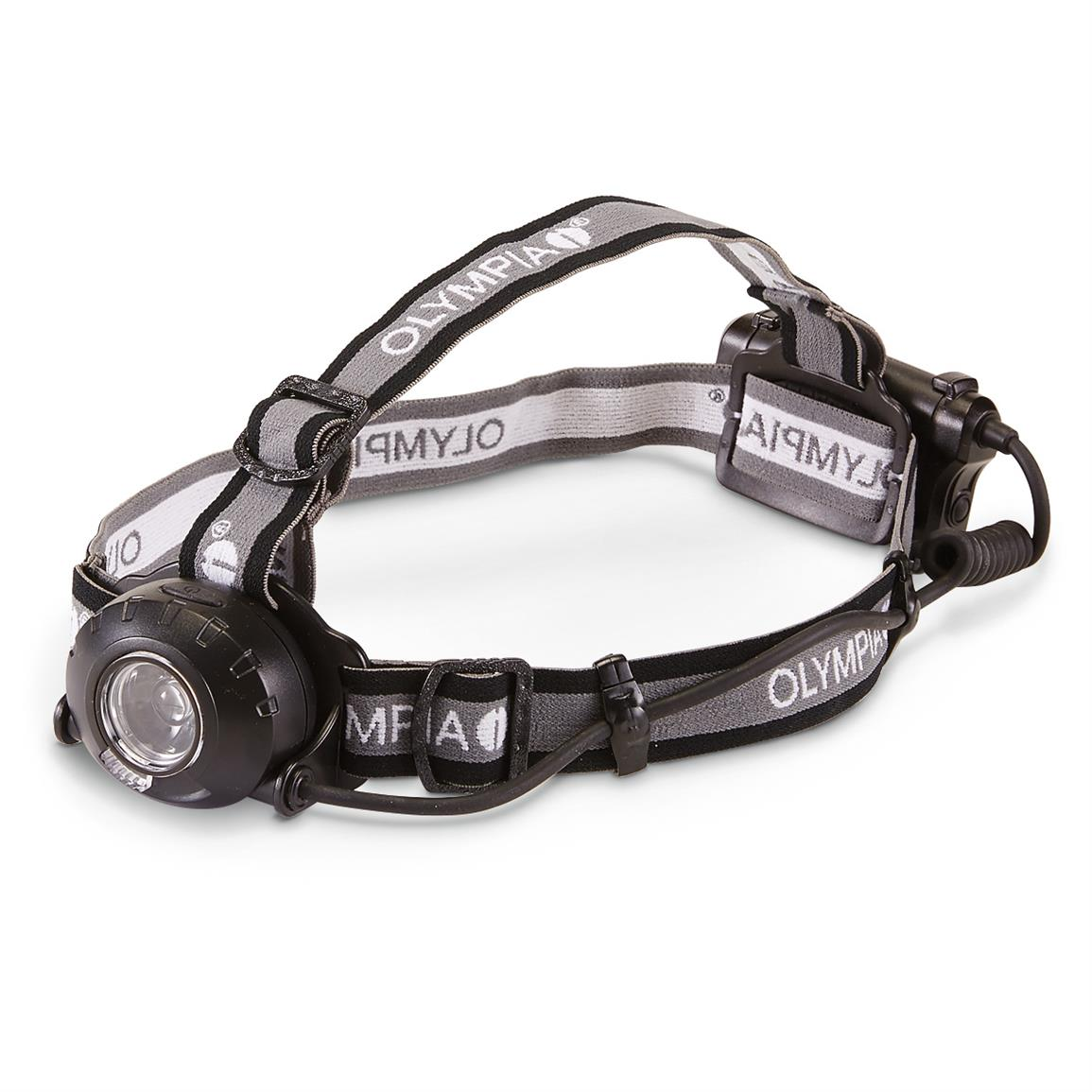 Olympia Explorer Series Adjustable Focus Headlamp, 230 Lumen