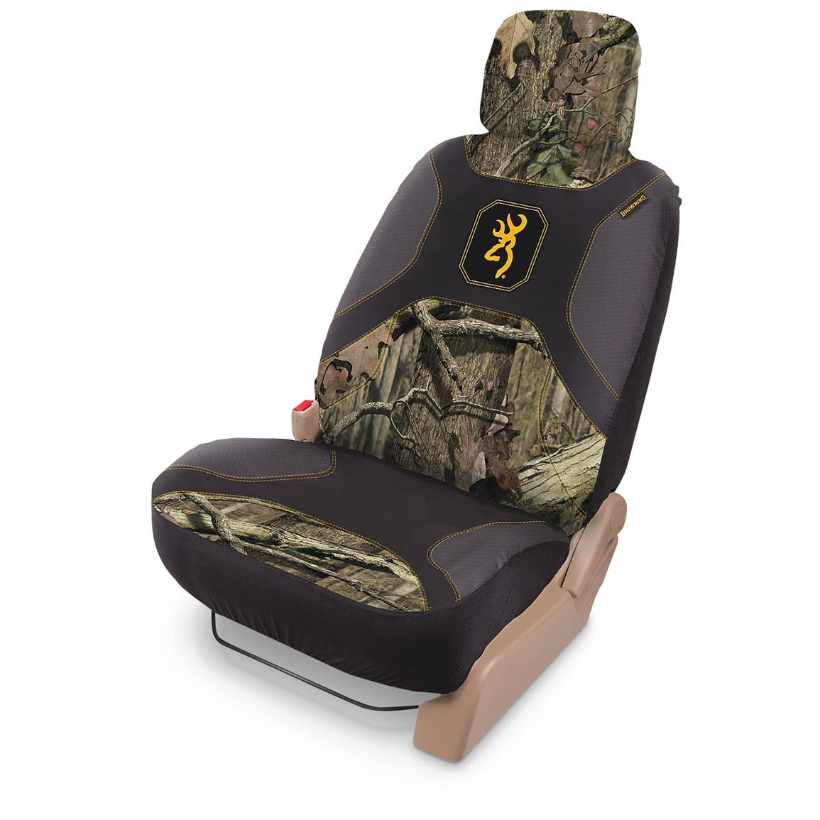 Universal Low-back Camo Seat Cover, Browning