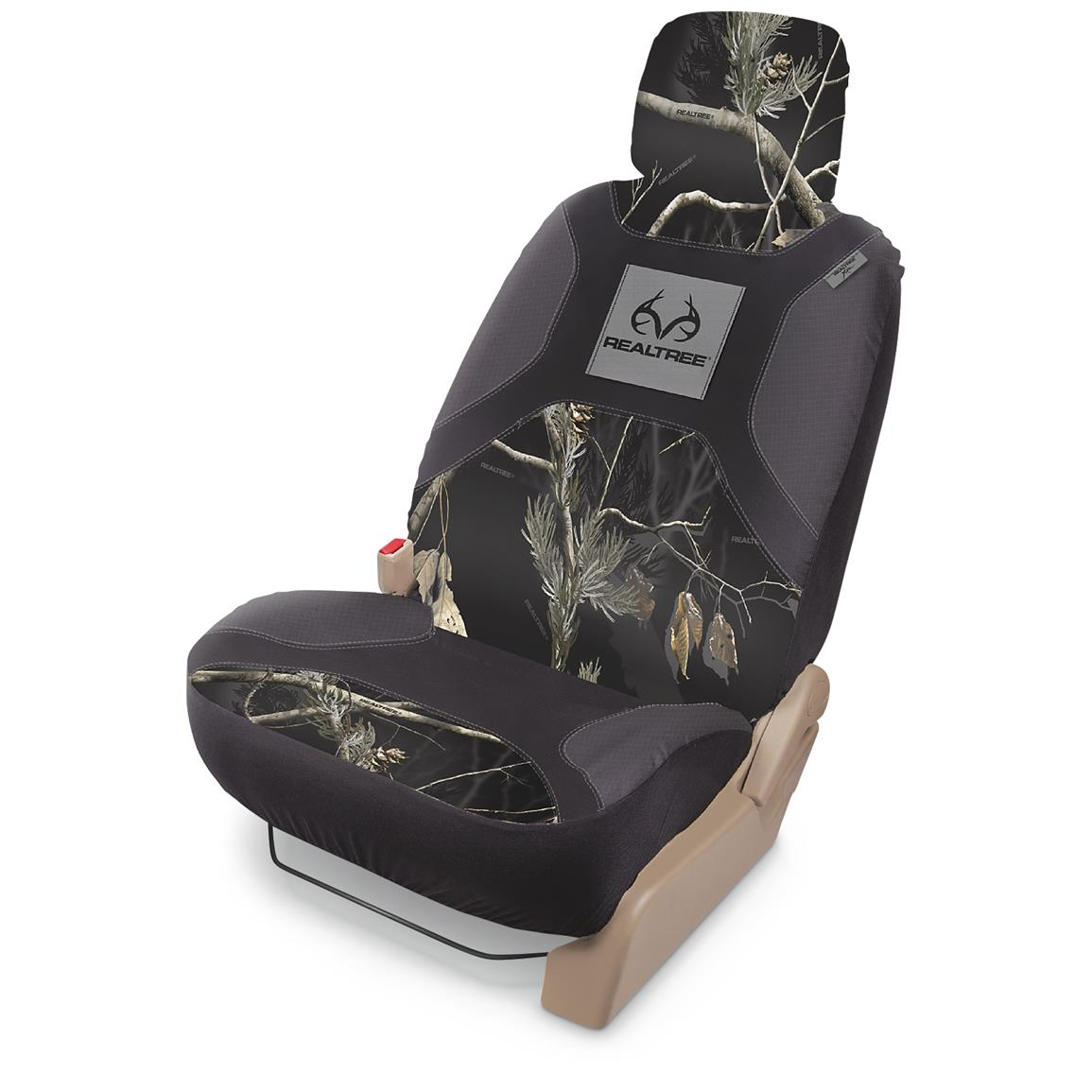 Universal Low-back Camo Seat Cover, Realtree Outfitters