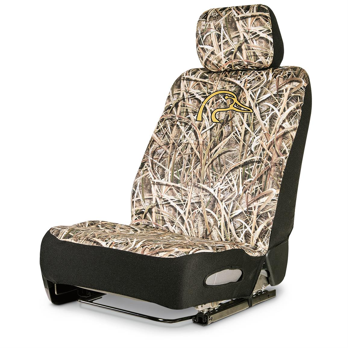 Neoprene Universal Low-back Camo Seat Cover, Ducks Unlimited