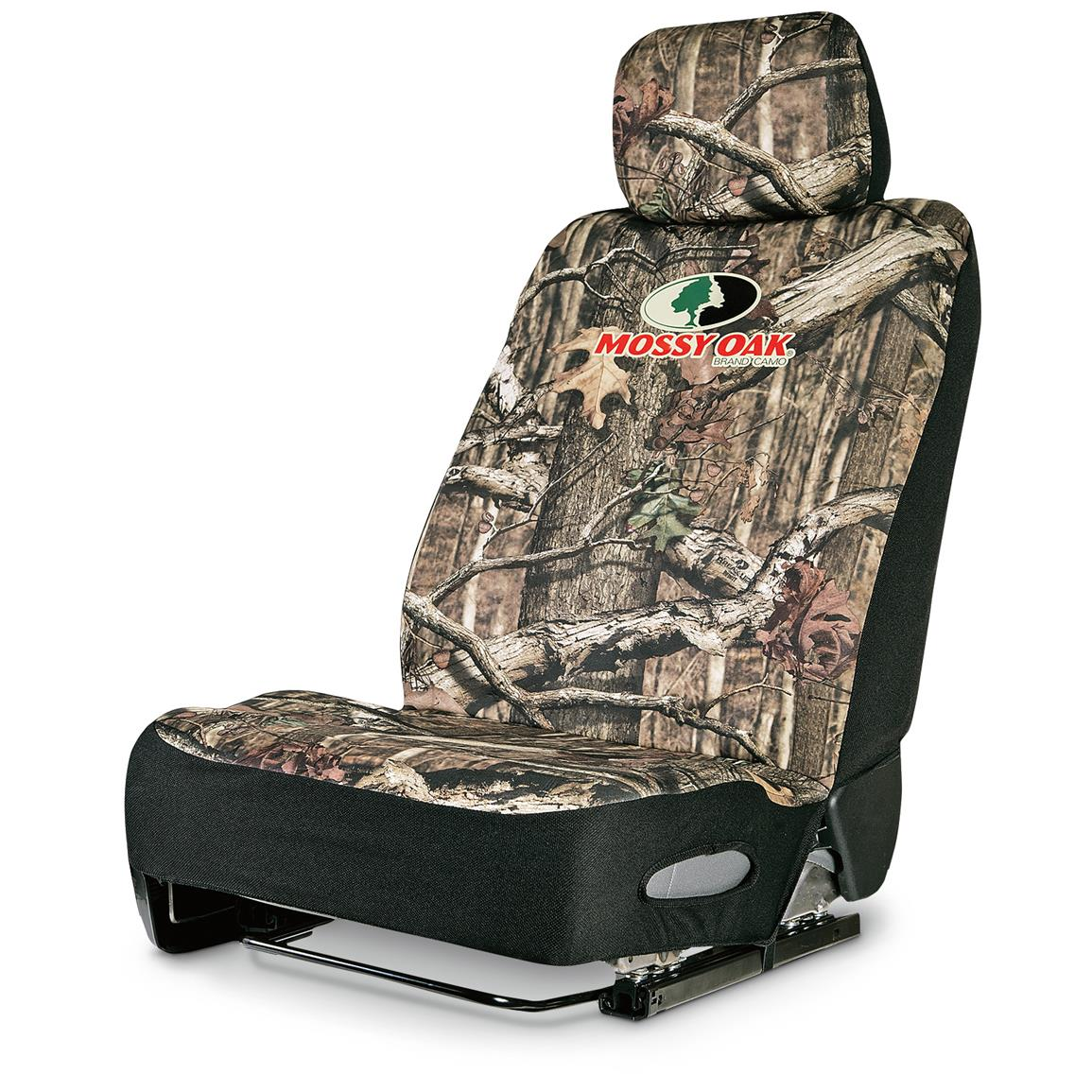 Neoprene Universal Low-back Camo Seat Cover, Mossy Oak