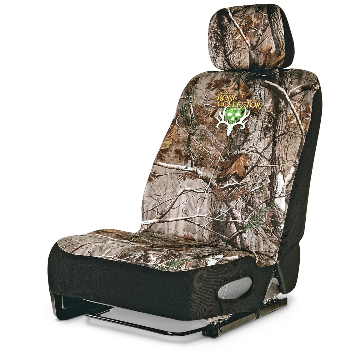 Neoprene Universal Low-back Camo Seat Cover, Bone Collector