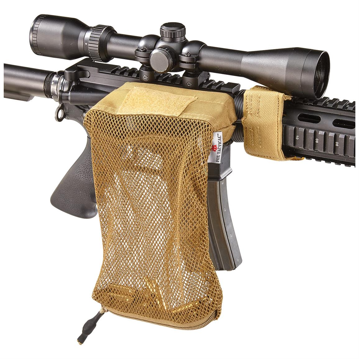 Fox Tactical Brass Catchers, 2 Pack, Coyote Tan