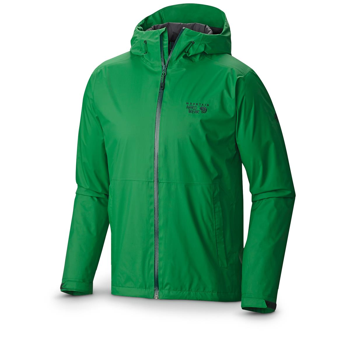 Mountain Hardwear Men's Finder Jacket, Waterproof, Breathable, Serpent Green
