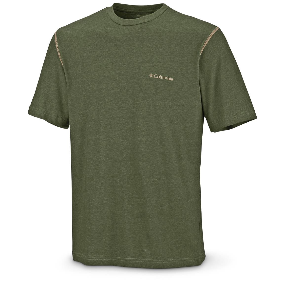 Columbia Men's Thistletown Park Crew T-Shirt, Surplus Green
