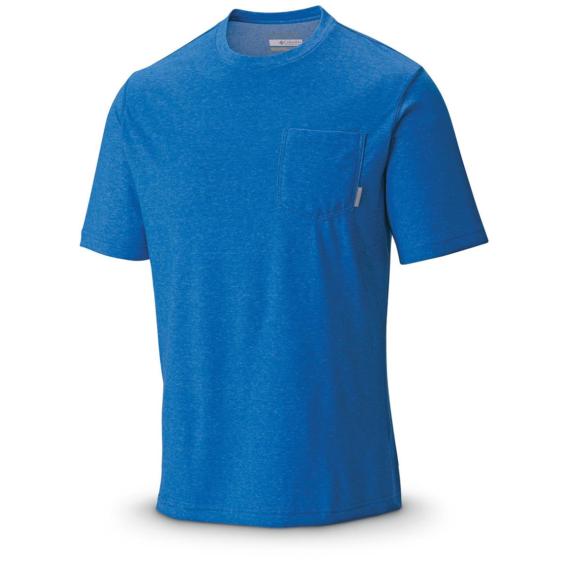 Columbia Men's Thistletown Park Pocket T-Shirt, Super Blue Heather