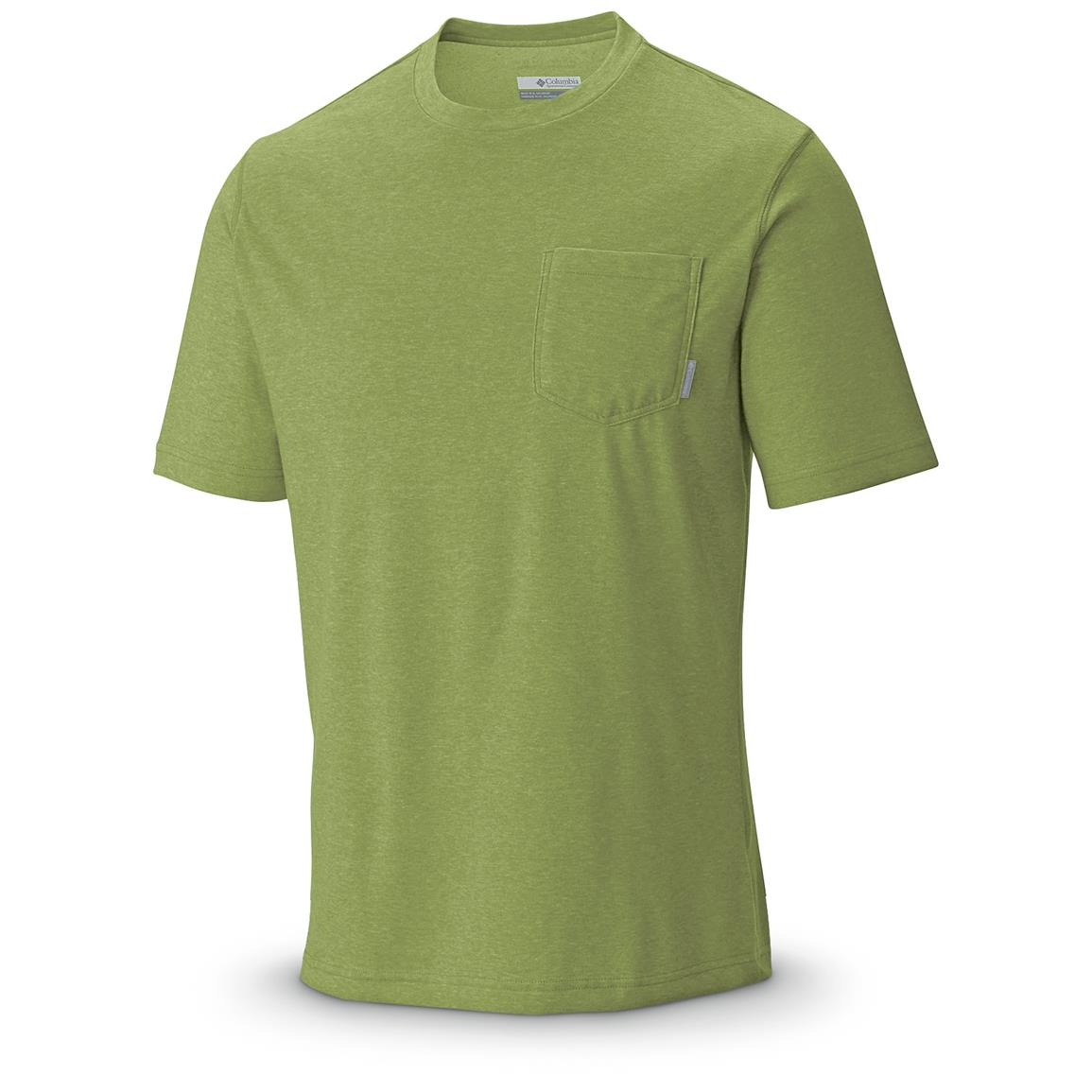 Columbia Men's Thistletown Park Pocket T-Shirt, Nappa Green Heather