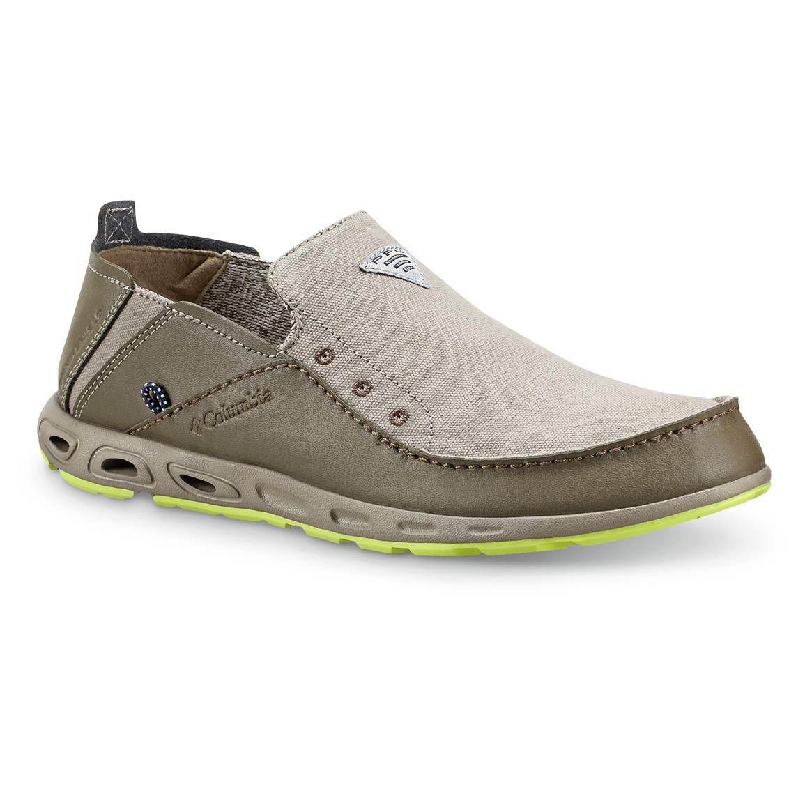 Columbia Men's Bahama Vent PFG Slip-On Boat Shoes, Kettle / Tippet