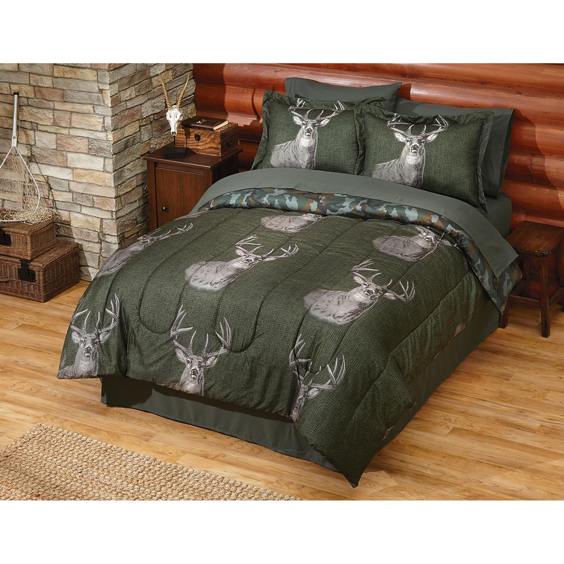 Buck Wear® Trophy Complete Bed Set, Green