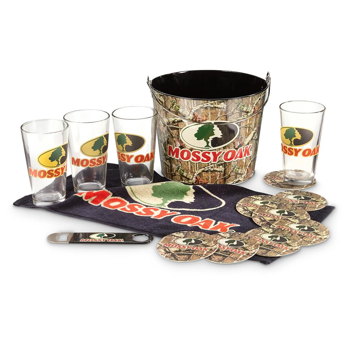 Mossy Oak Pint Glass Gift Set with Bucket