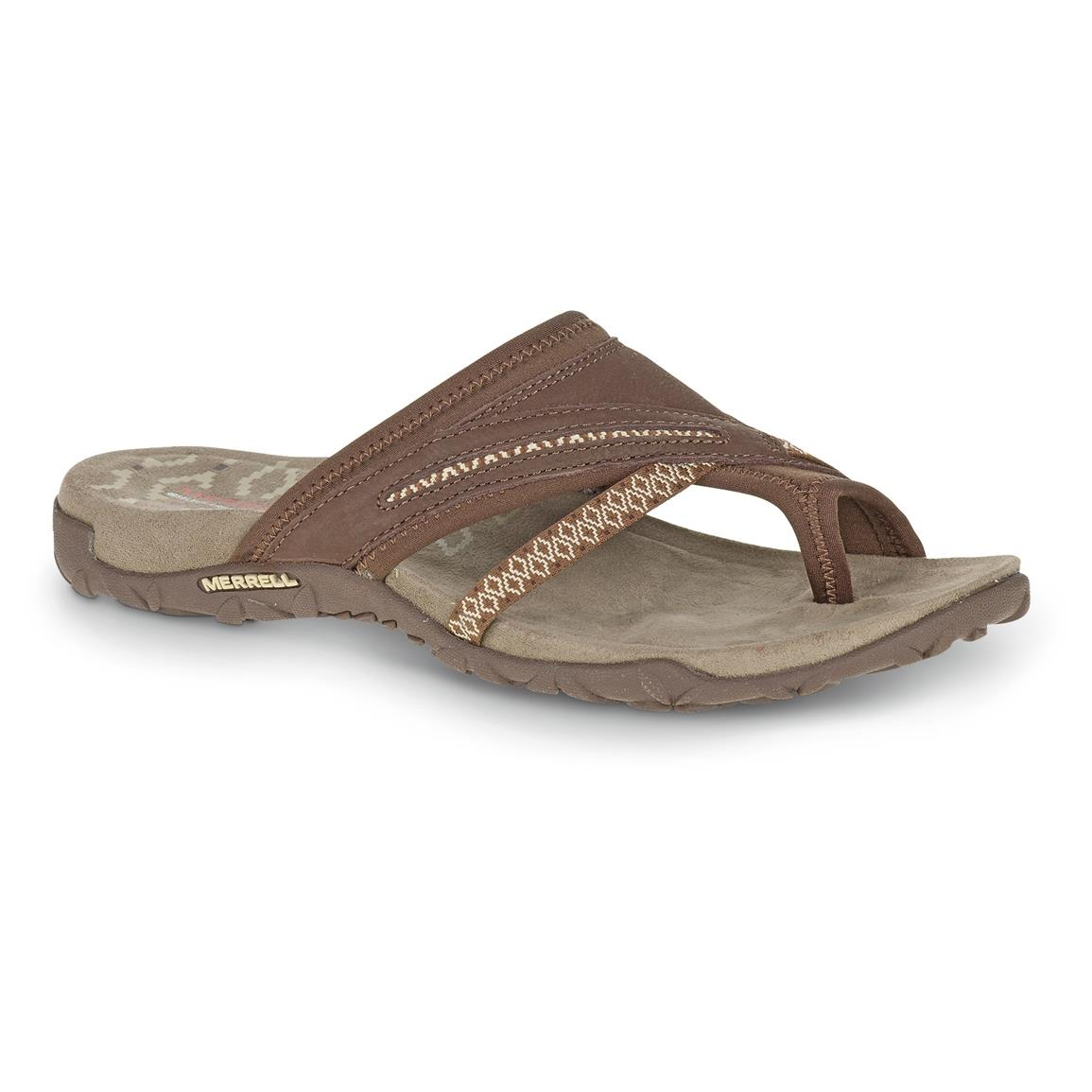 Merrell Women's Terran Post II Sandals, Dark Earth