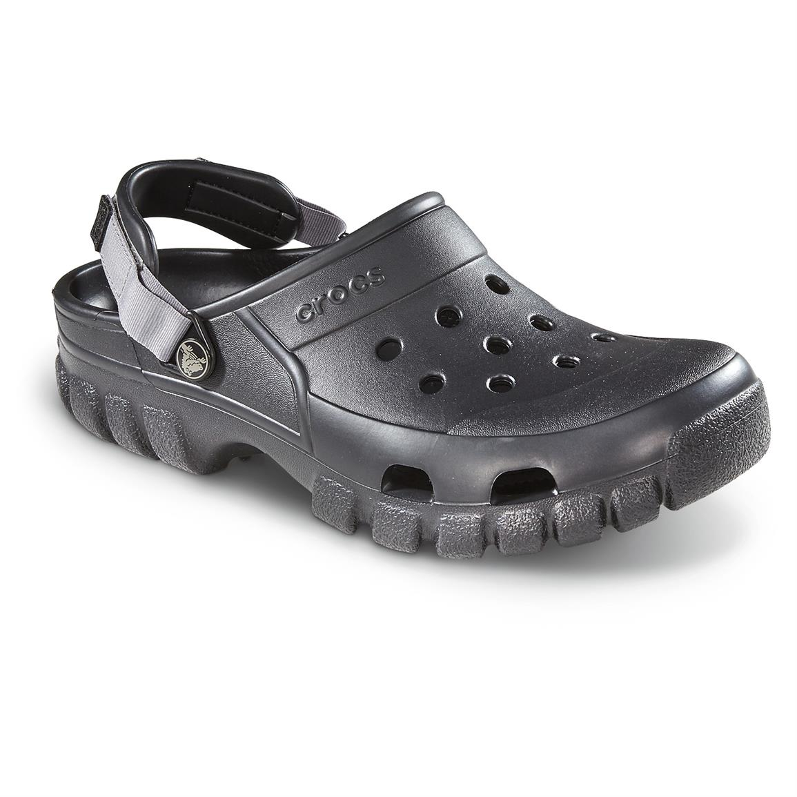 Crocs Men's Offroad Sport Clogs, Black / Graphite