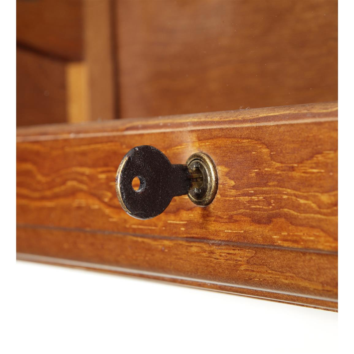 Fully-locking cabinet keeps out curious hands