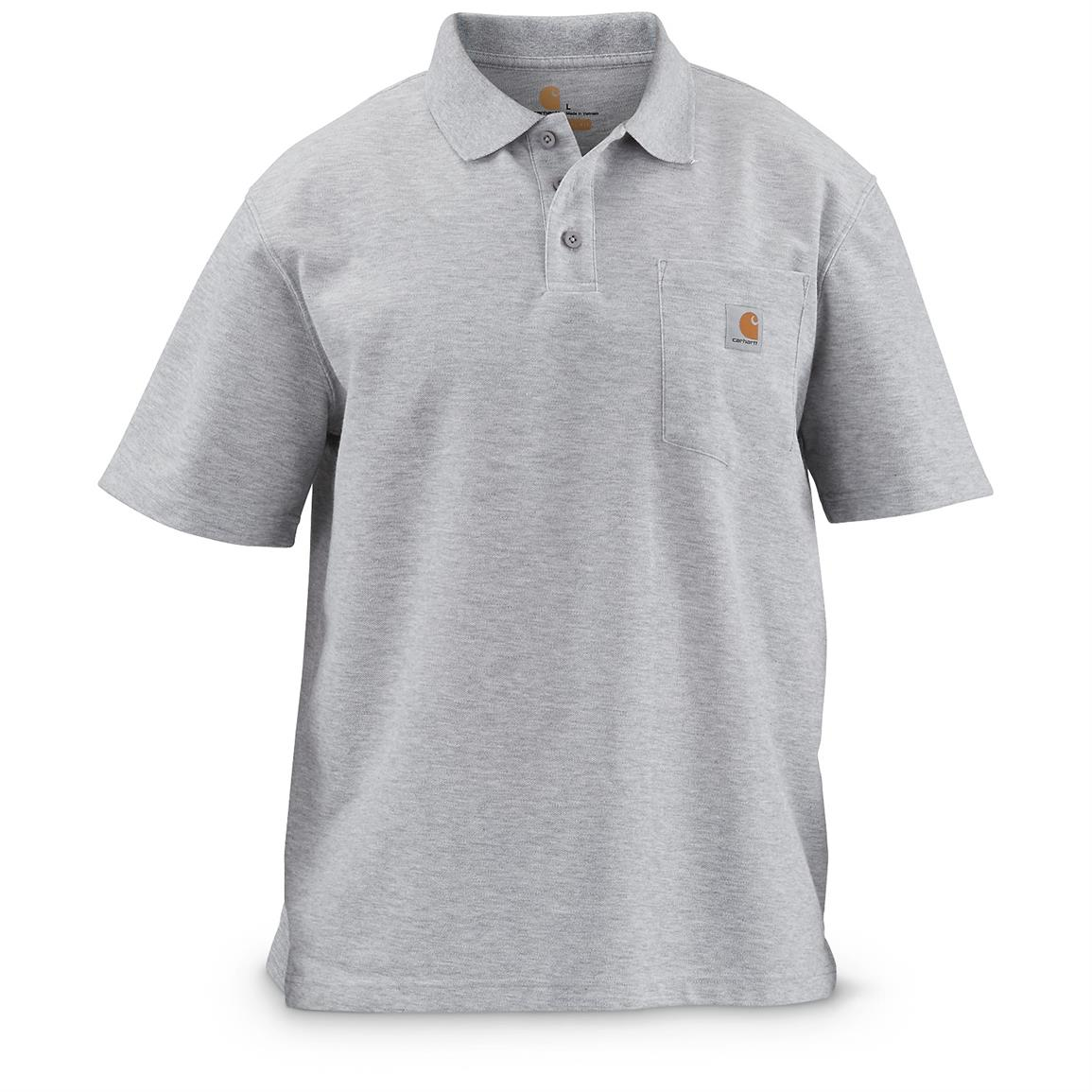 Carhartt Men's Contractor's Work Pocket Polo, Heather Gray