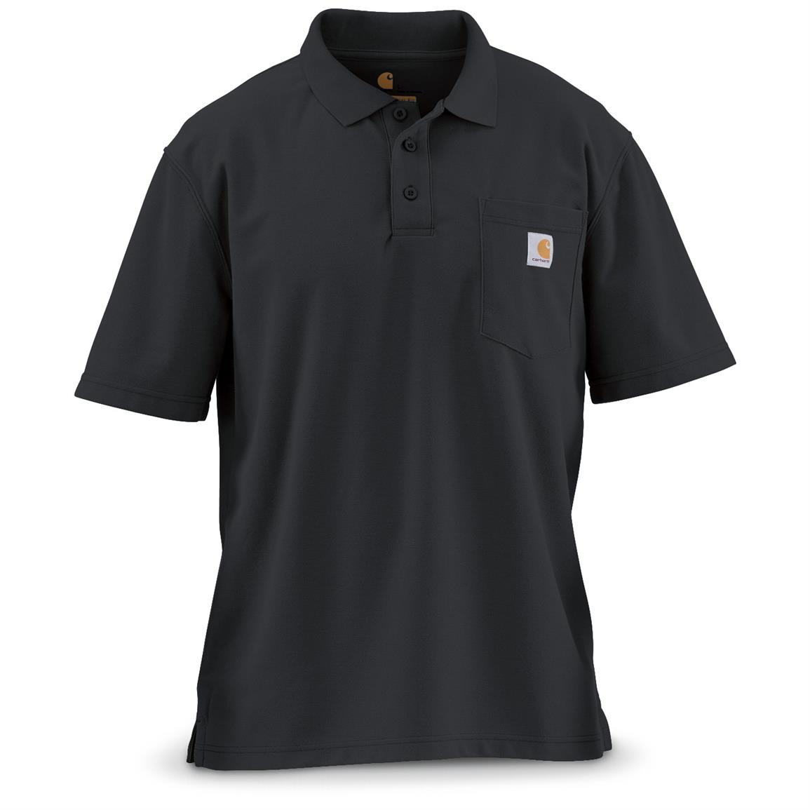 Carhartt Men's Contractor's Work Pocket Polo, Black