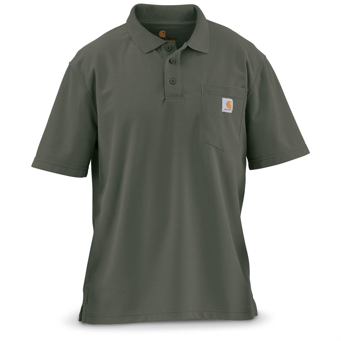 Carhartt Men's Contractor's Work Pocket Polo, Moss