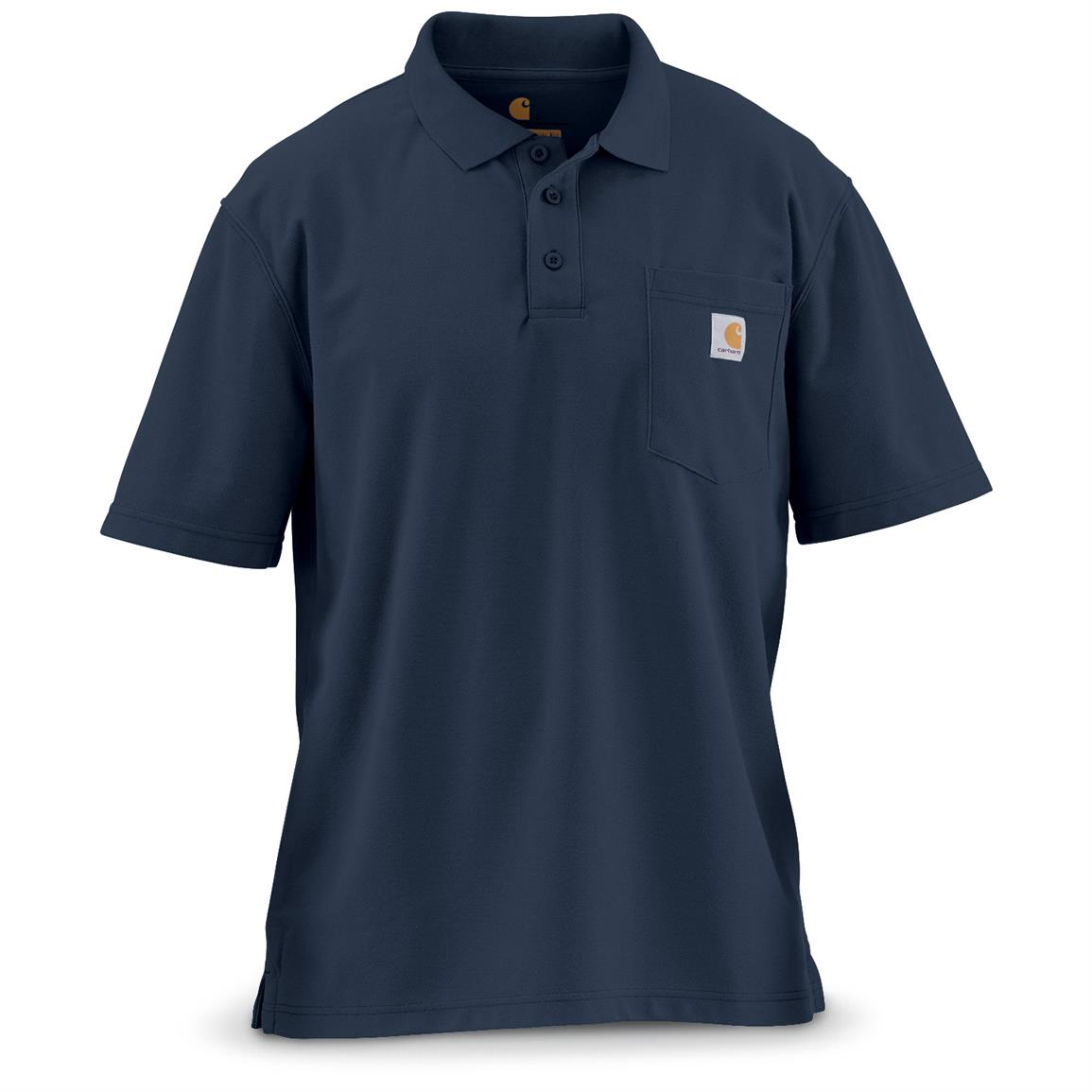 Carhartt Men's Contractor's Work Pocket Polo, Navy