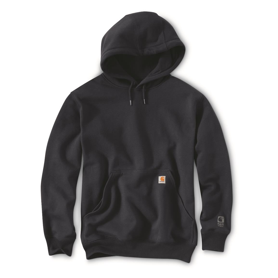 Carhartt Men's Rain Defender Paxton Hooded Heavyweight Sweatshirt, New Navy