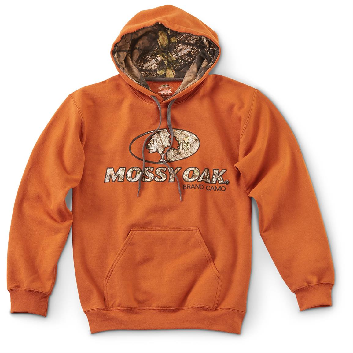 Mossy Oak Break-Up Country Camo Lined Hoodie, Texas Orange