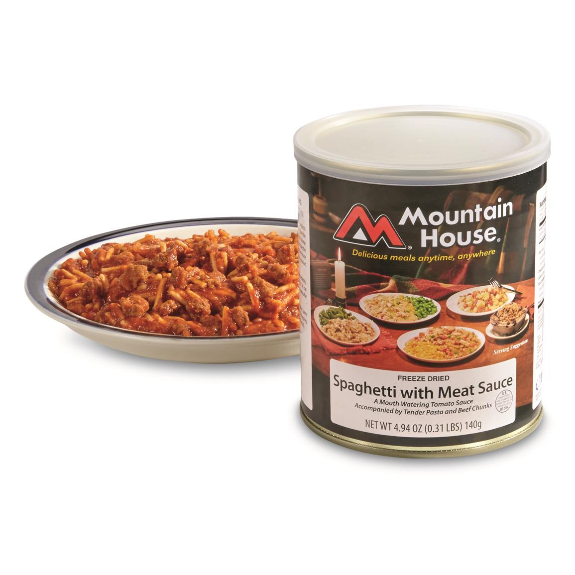 Mountain House Emergency Food Freeze-Dried Spaghetti with Meat Sauce, 2 Pack