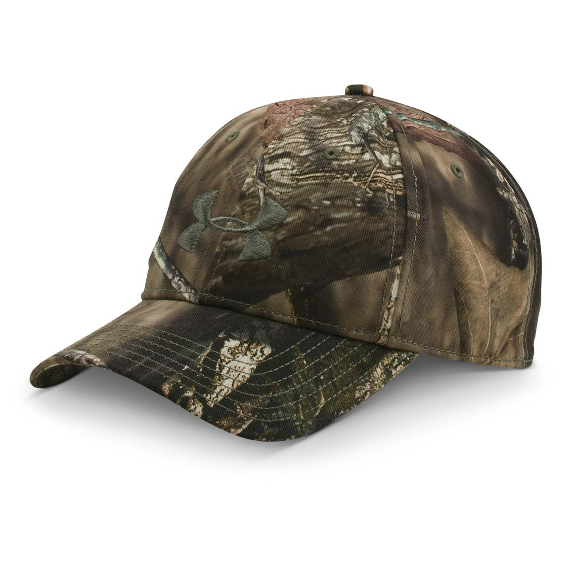 Under Armour Men's Camo Baseball Cap, MOBU Country - Mossy Taupe