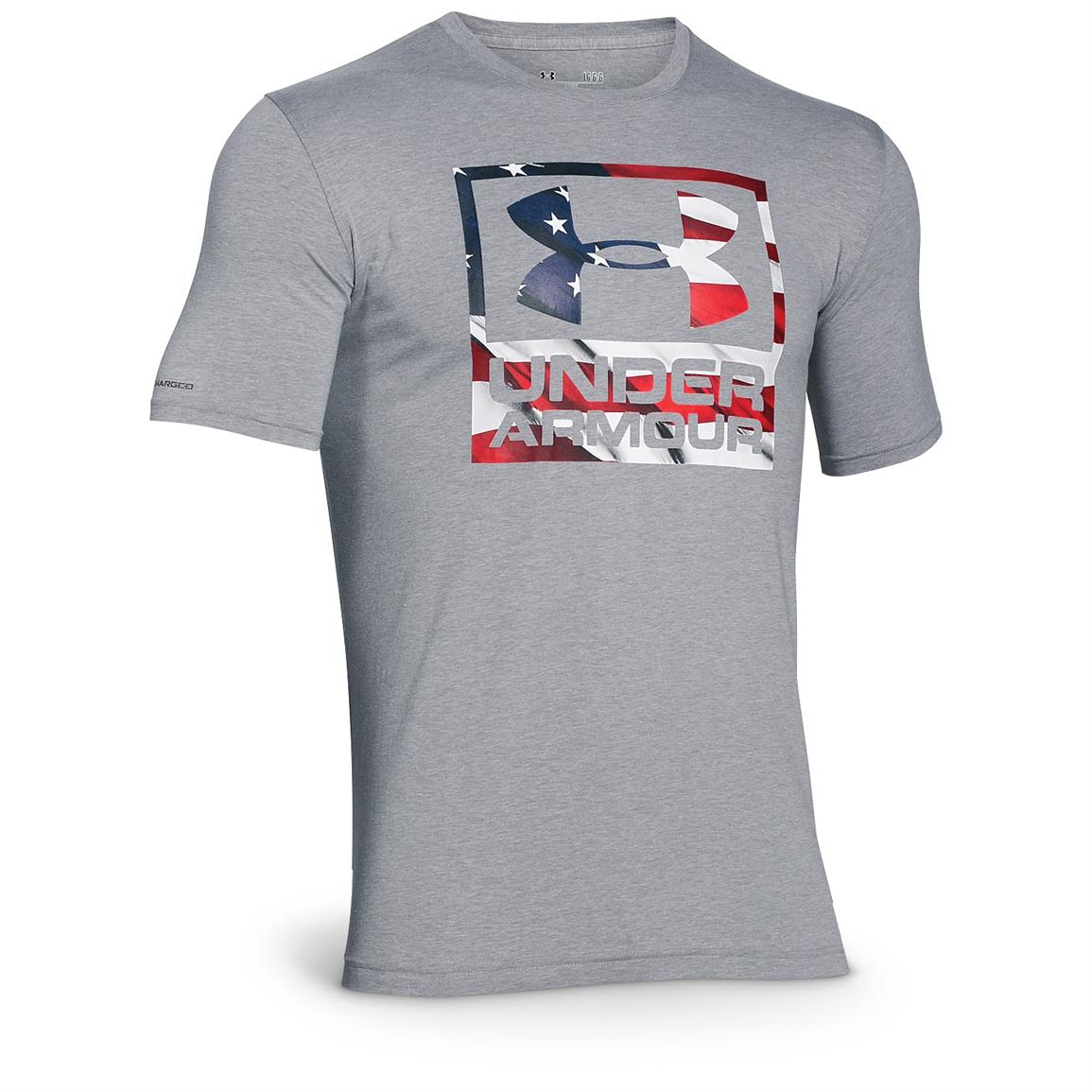 Under Armour Men's BFL Patriotic Logo Short-sleeved T-Shirt, True Gray
