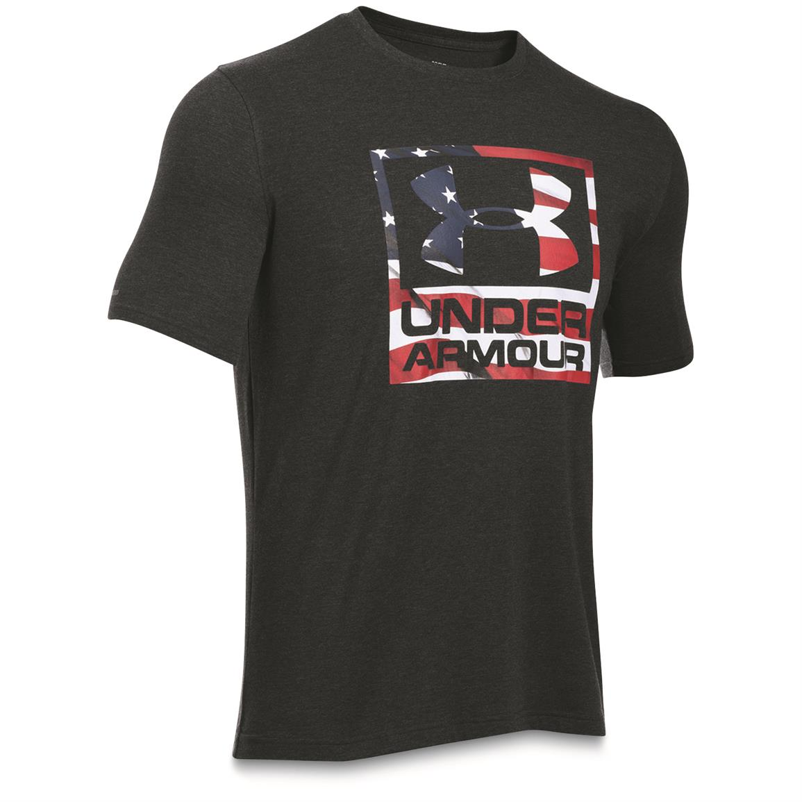 Under Armour Men's BFL Patriotic Logo Short-sleeved T-Shirt, Black / White