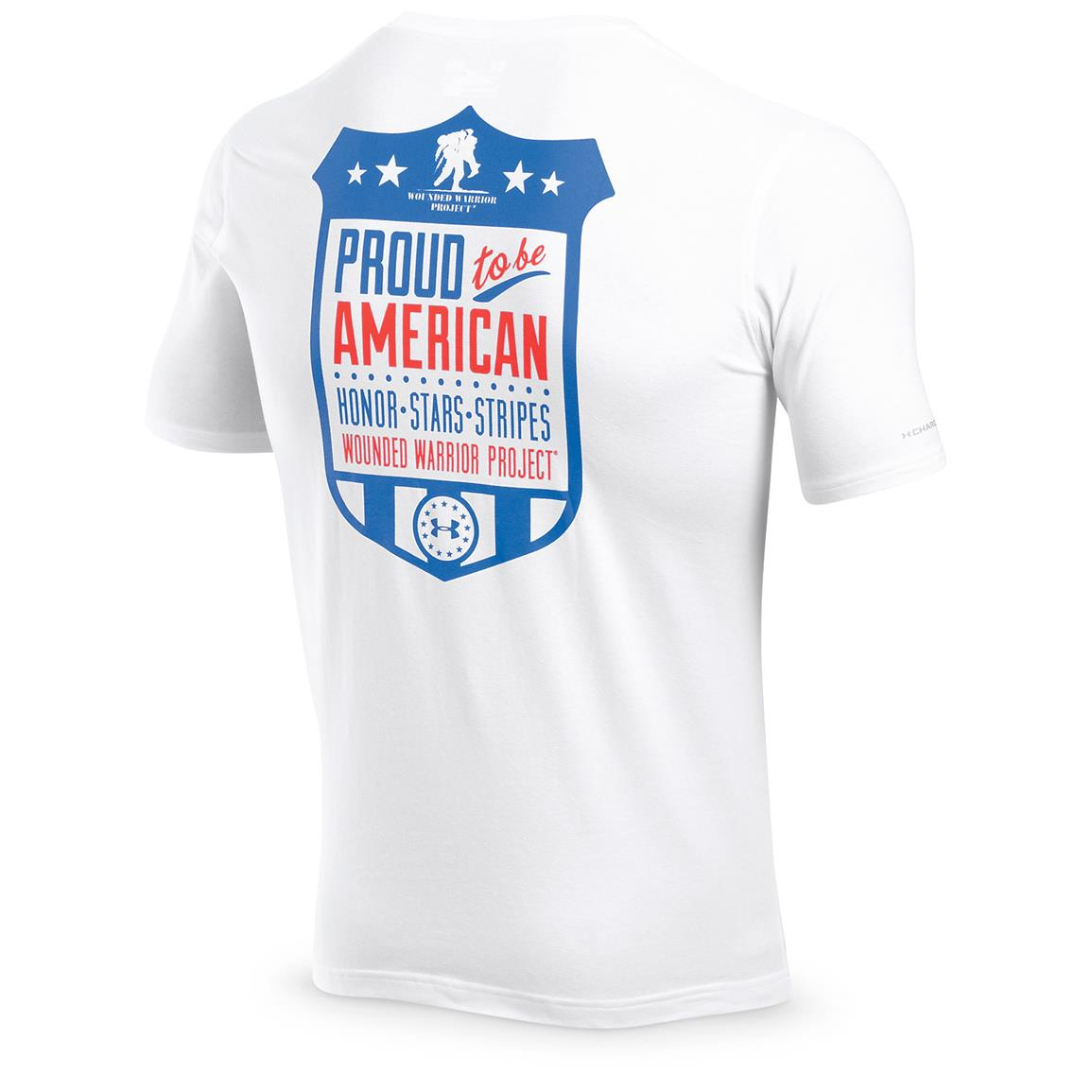 Under Armour Men's Proud American T-Shirt, White