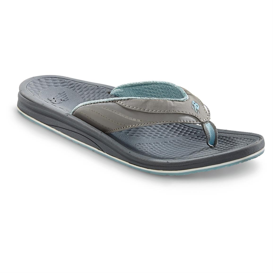 New Balance Women's PureAlign Thong Sandals, Gray / Blue
