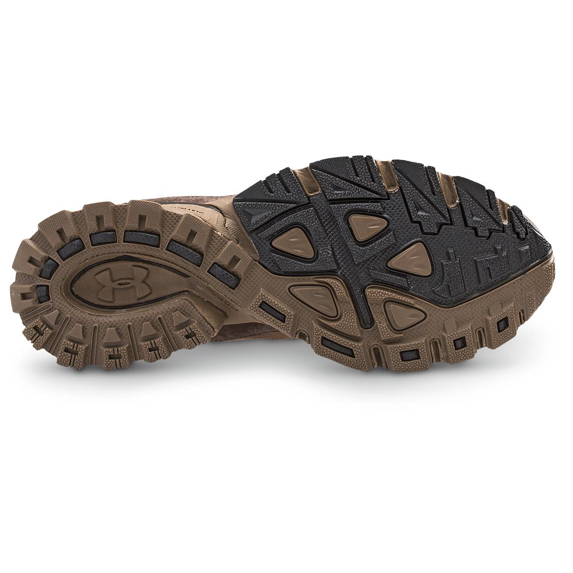 Aggressive high-abrasion rubber traction outsole is engineered to grip
