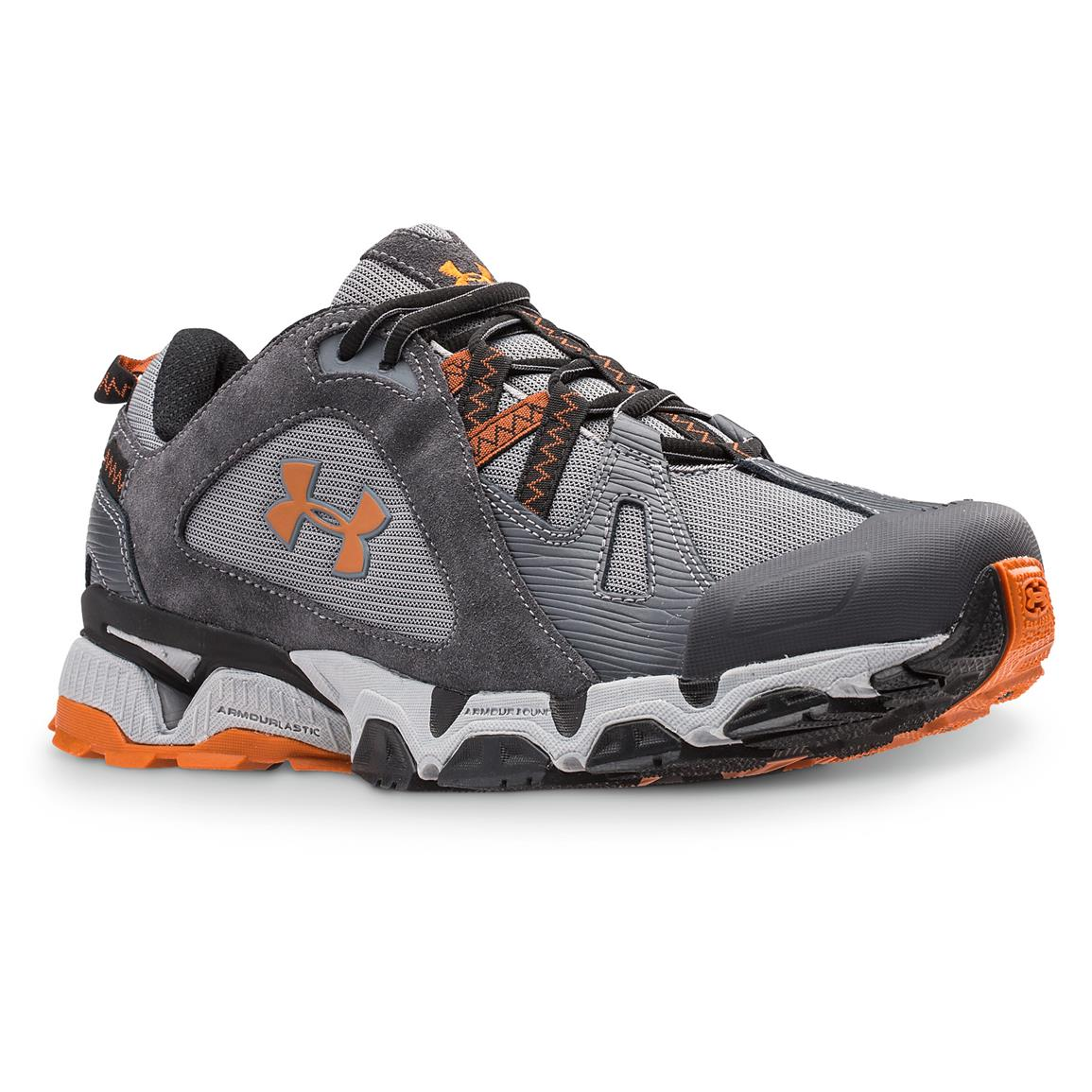 Under Armour Men's Chetco Trail Running Shoes, Graphite / Steel / Rodeo Orange