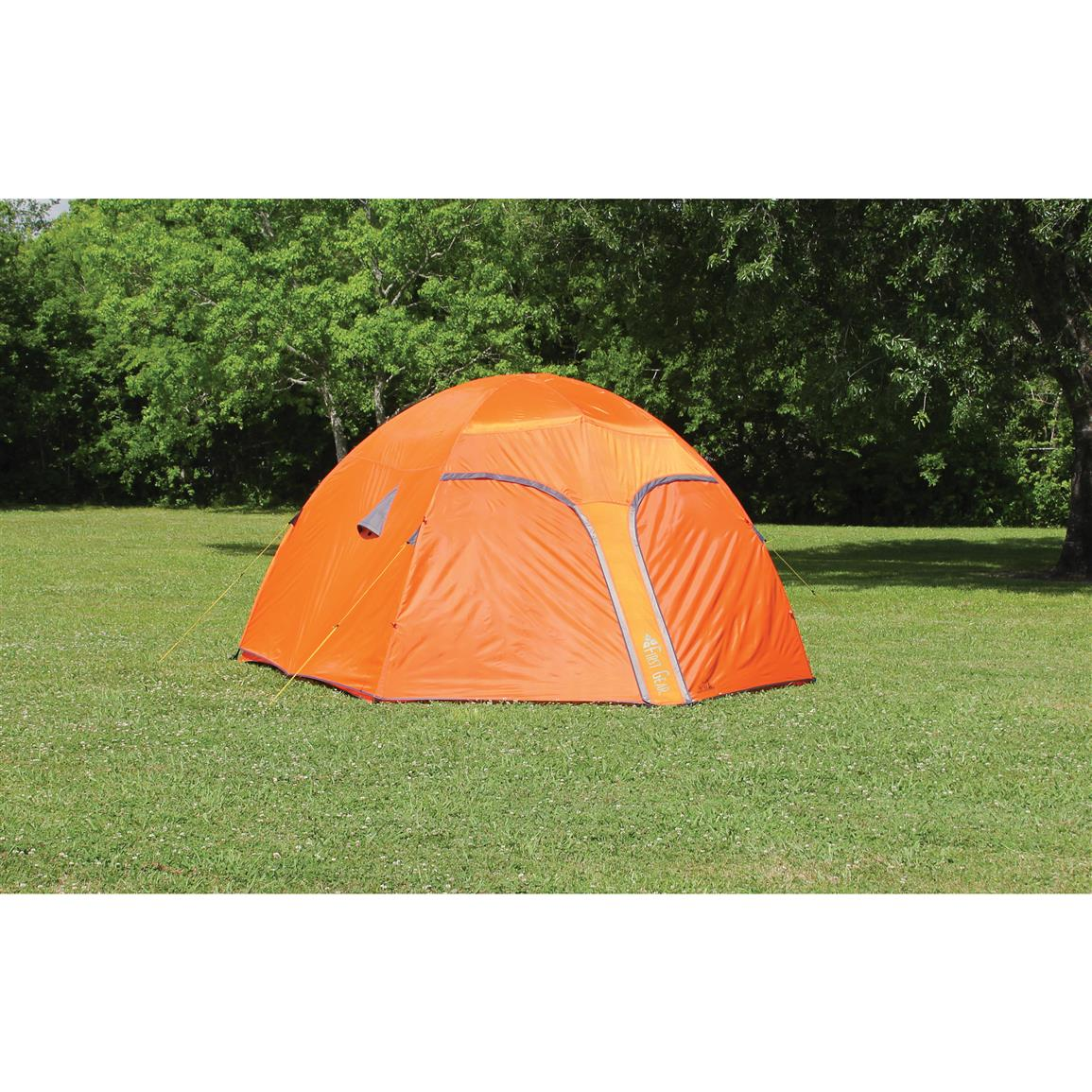 Texsports Orange Mountain Tent, 5 Person • with Full rainfly