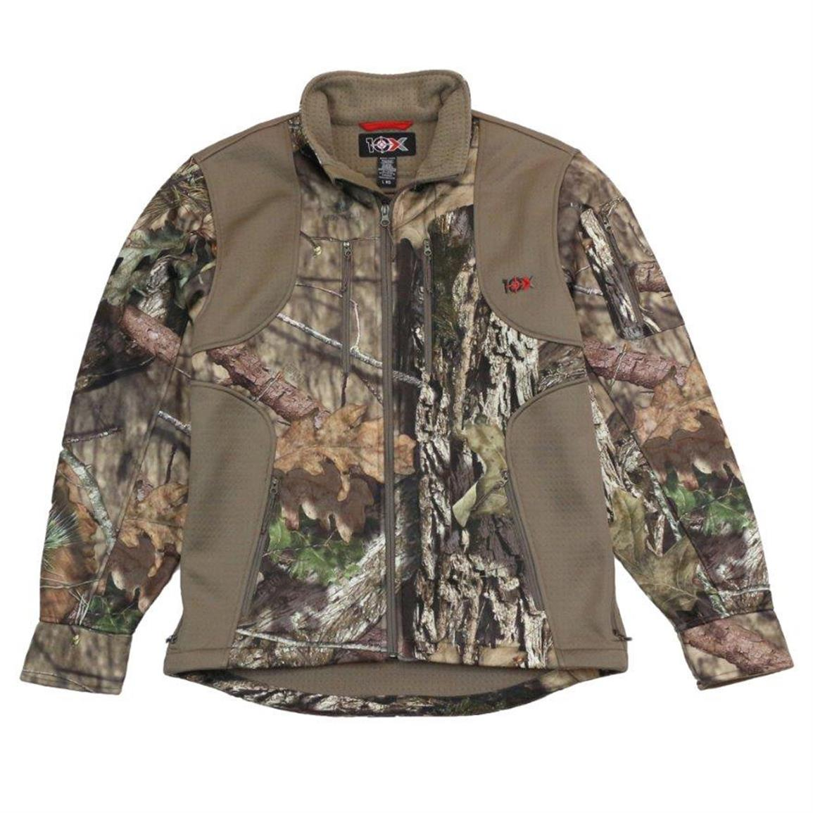 10X Men's Camo Softshell Jacket, Realtree Xtra