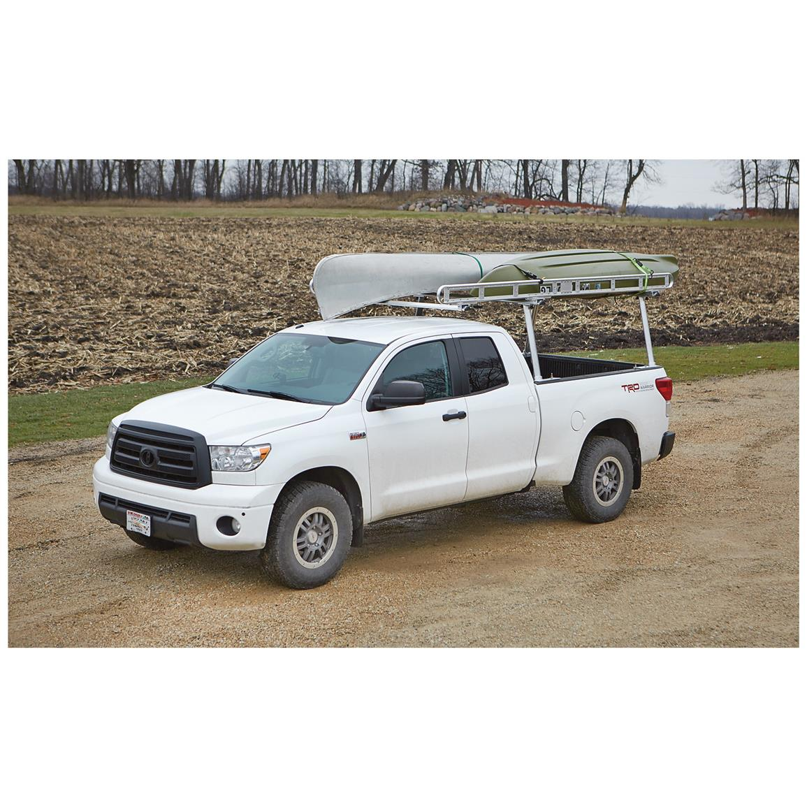 Extends over the cab for safely hauling long cargo