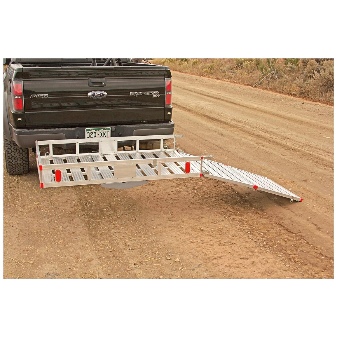 Lightweight, rugged aluminum carrier and ramp resists corrosion and rust for years of use