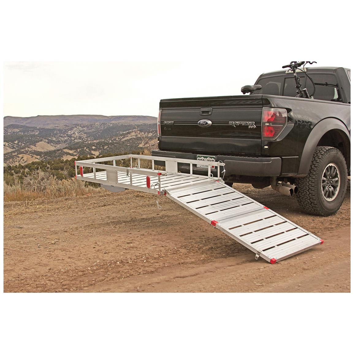 Simply lower the ramp, drive / push / pull your items onto the bed, and lock the ramp back in place. It's as easy as that.