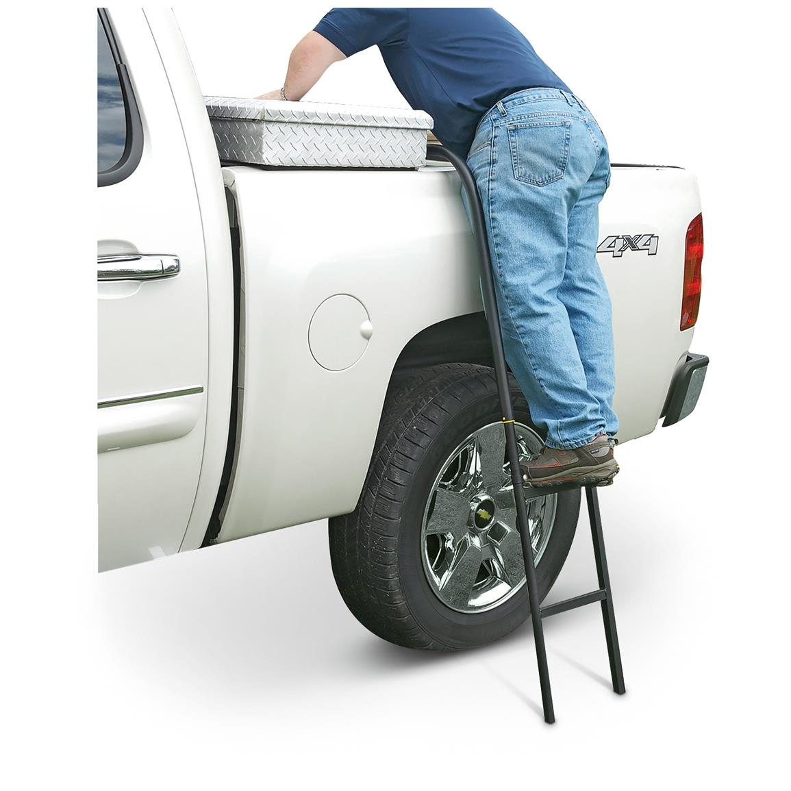 Mounts anywhere along the side of your truck