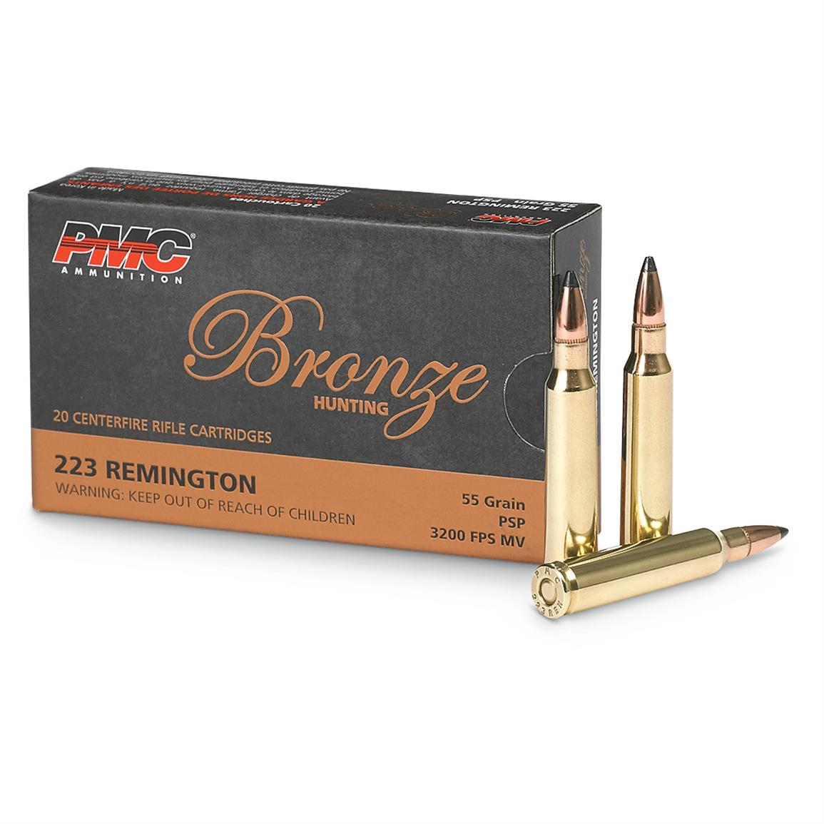 PMC, .223 Remington, PSP, 55 Grain, 400 Rounds