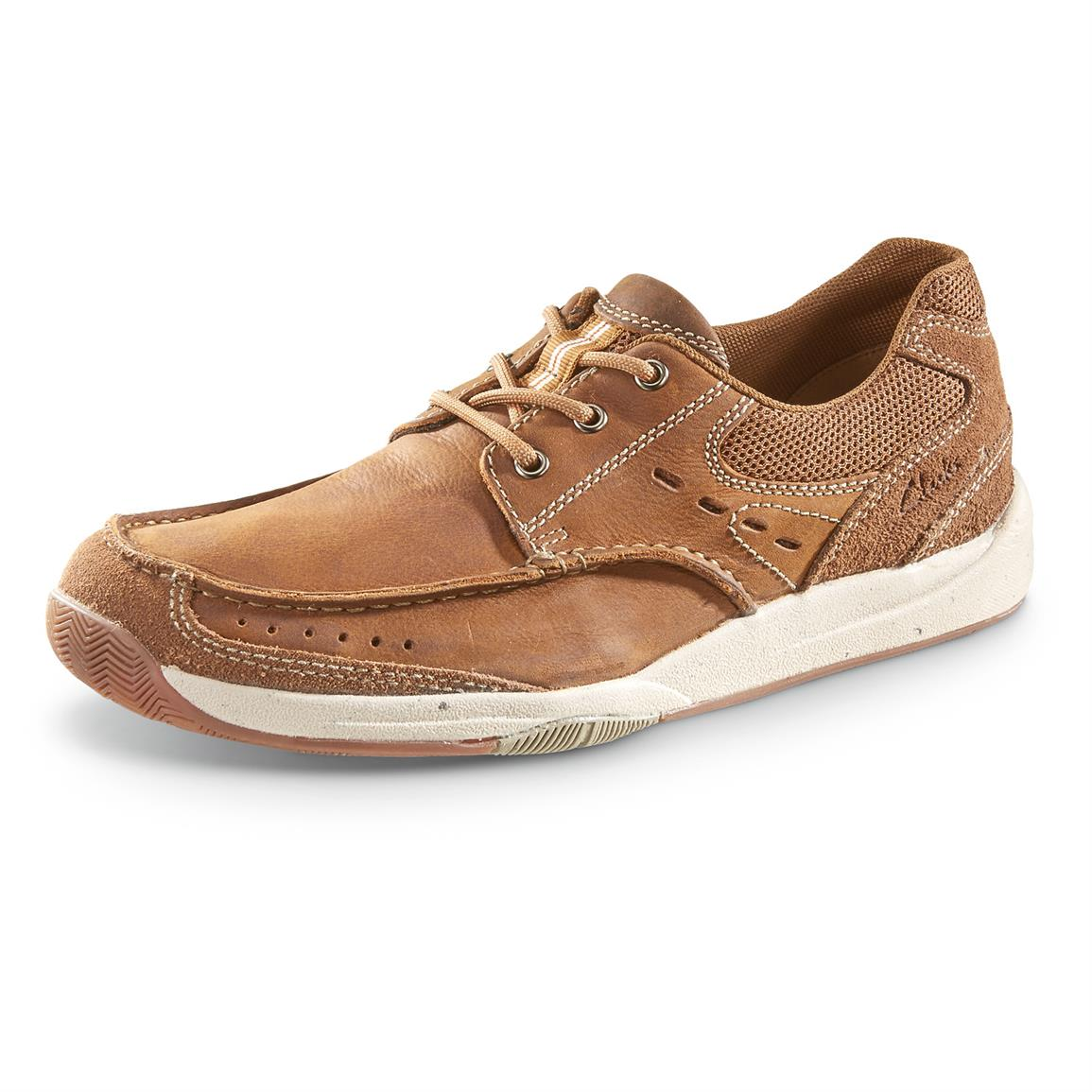 Clarks Allston Edge Casual Shoes, Tan Nubuck