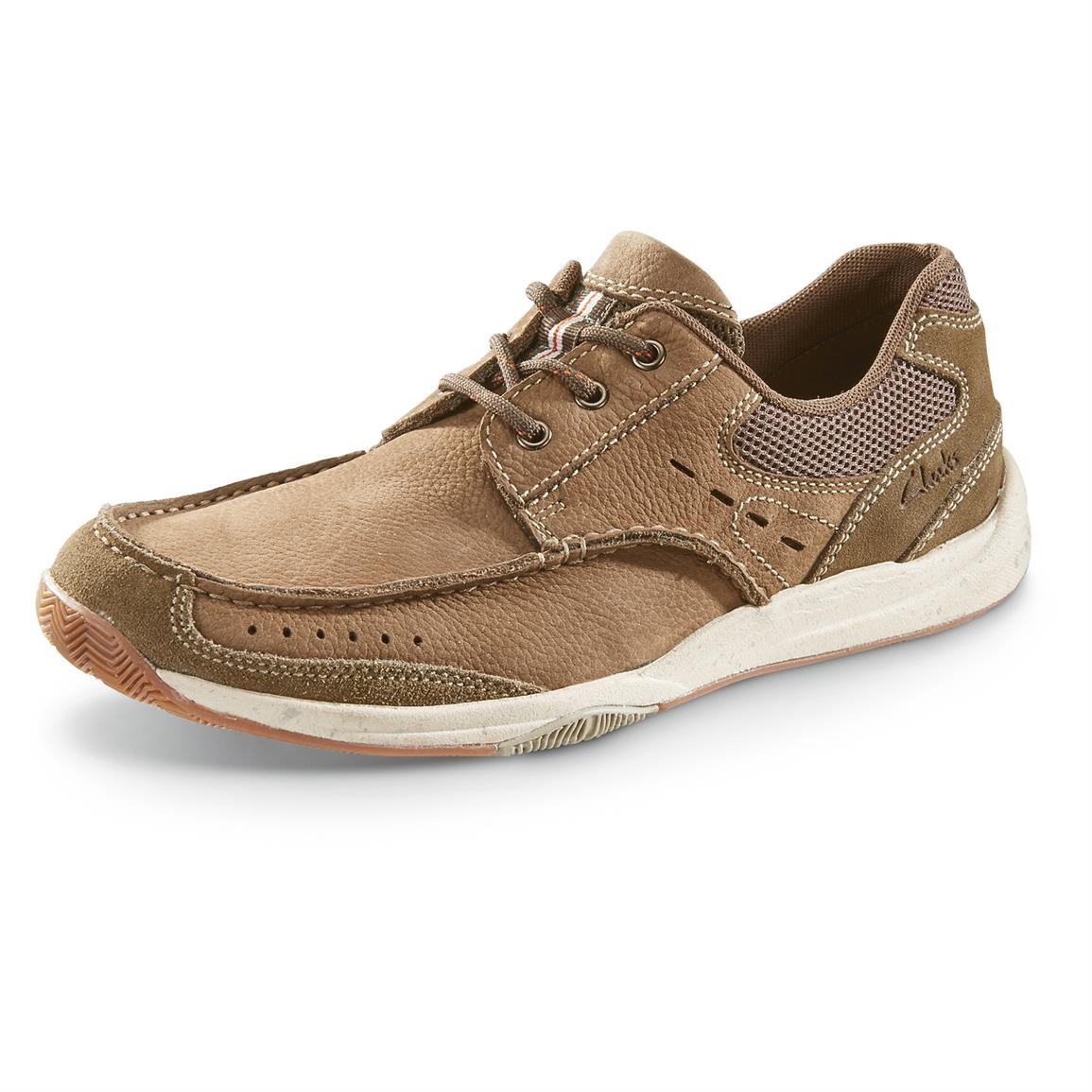 Clarks Allston Edge Casual Shoes, Olive Nubuck