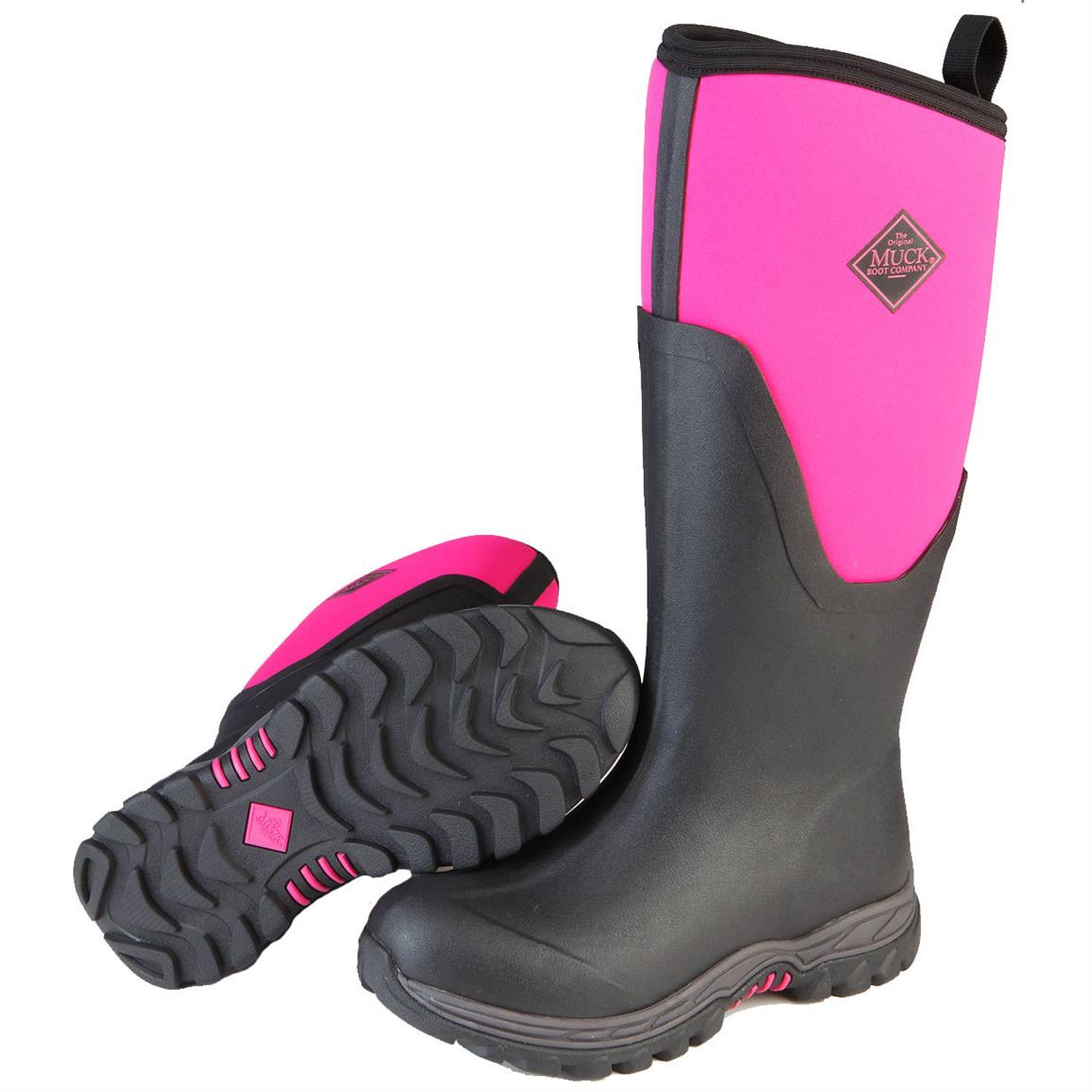 Women's Muck Arctic Sport II Tall Waterproof Insulated Rubber Boots, Pink