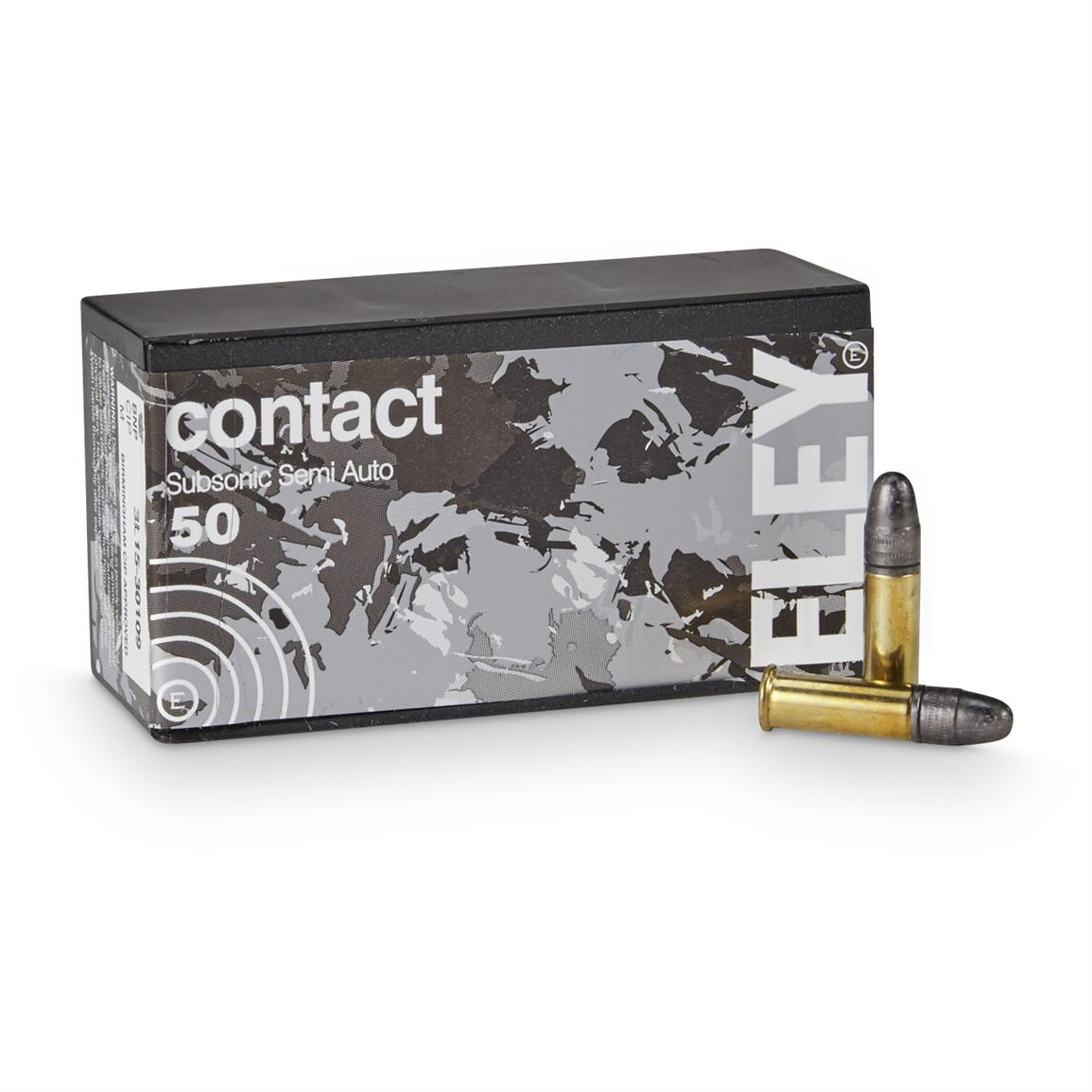 Eley Contact Sub-Sonic, .22LR, LRN, 42 Grain, 50 Rounds