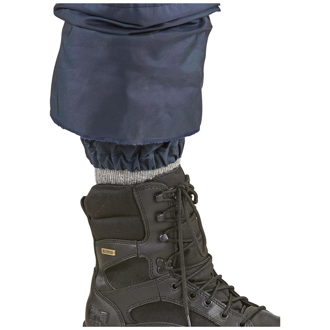 Water Resistant built in gaiters and reinforced bottom cuffs