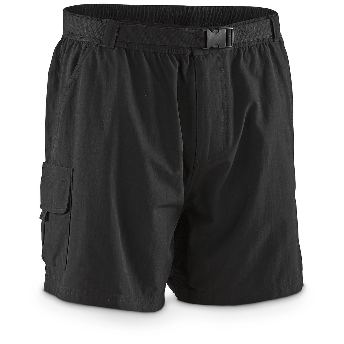 "Guide Gear Men's Cargo River Shorts, 6"" Inseam, Black"