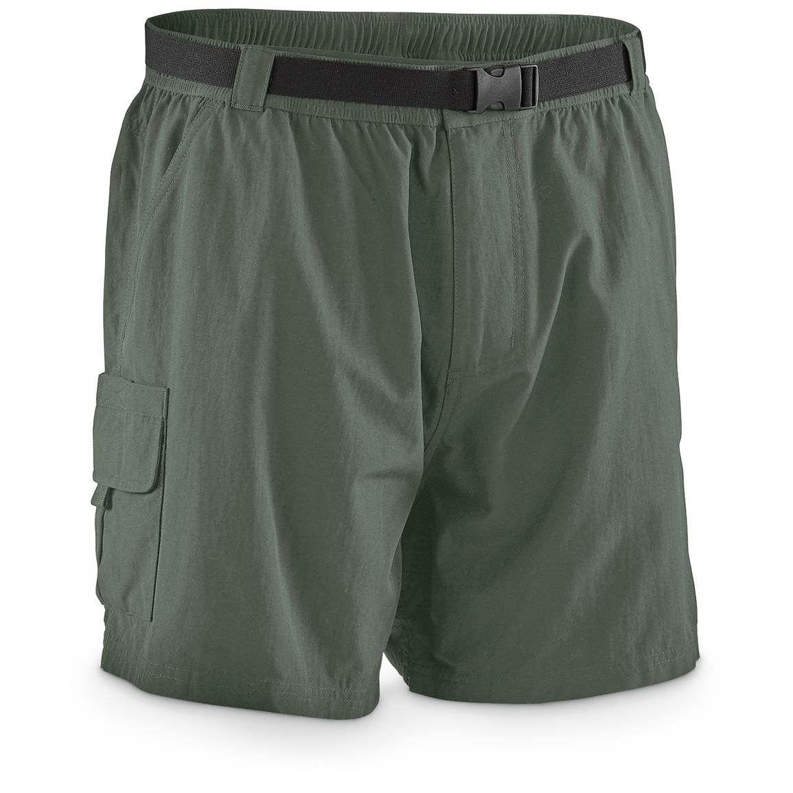 "Guide Gear Men's Cargo River Shorts, 6"" Inseam, Sage"