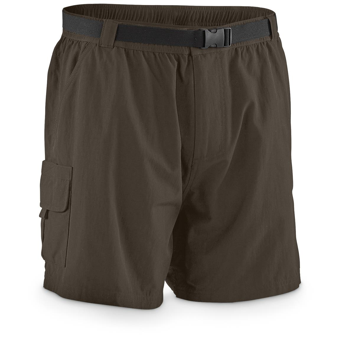 "Guide Gear Men's Cargo River Shorts, 6"" Inseam, Bark"