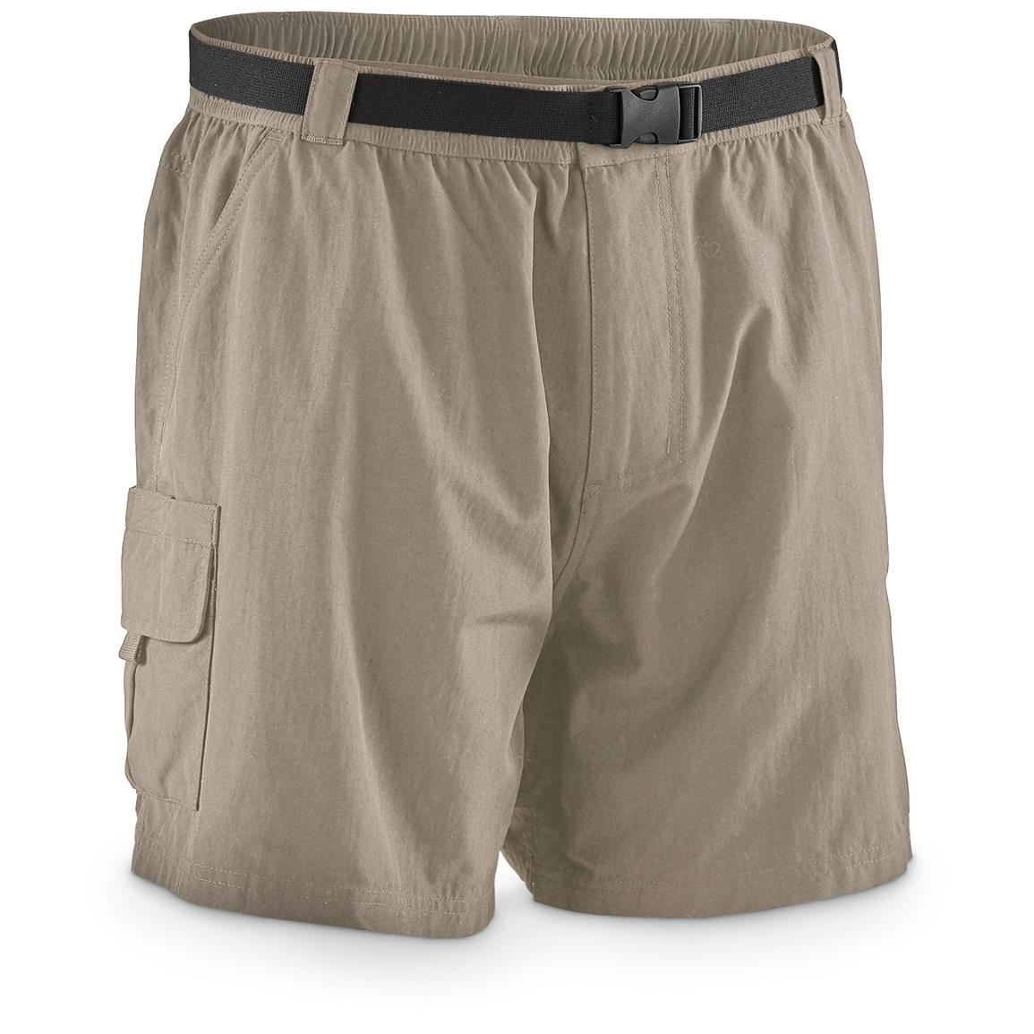 "Guide Gear Men's Cargo River Shorts, 6"" Inseam, Khaki"